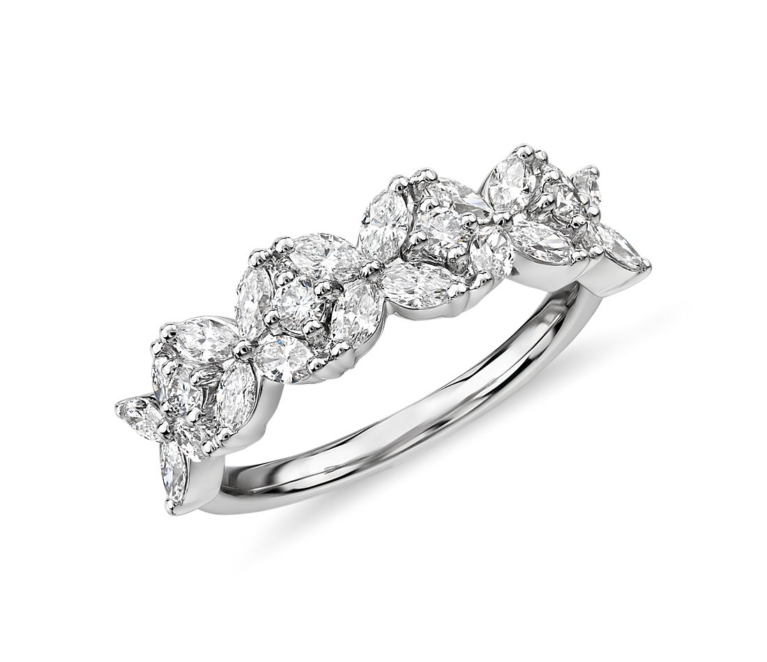 Monique Lhuillier Cherie Diamond Anniversary Ring in Platinum (2/3 ct. tw.)
