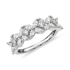 Monique Lhuillier Cherie Diamond Anniversary Ring in Platinum (5/8 ct. tw.)