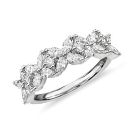 NEW Monique Lhuillier Cherie Diamond Anniversary Ring in Platinum (2/3 ct. tw.)