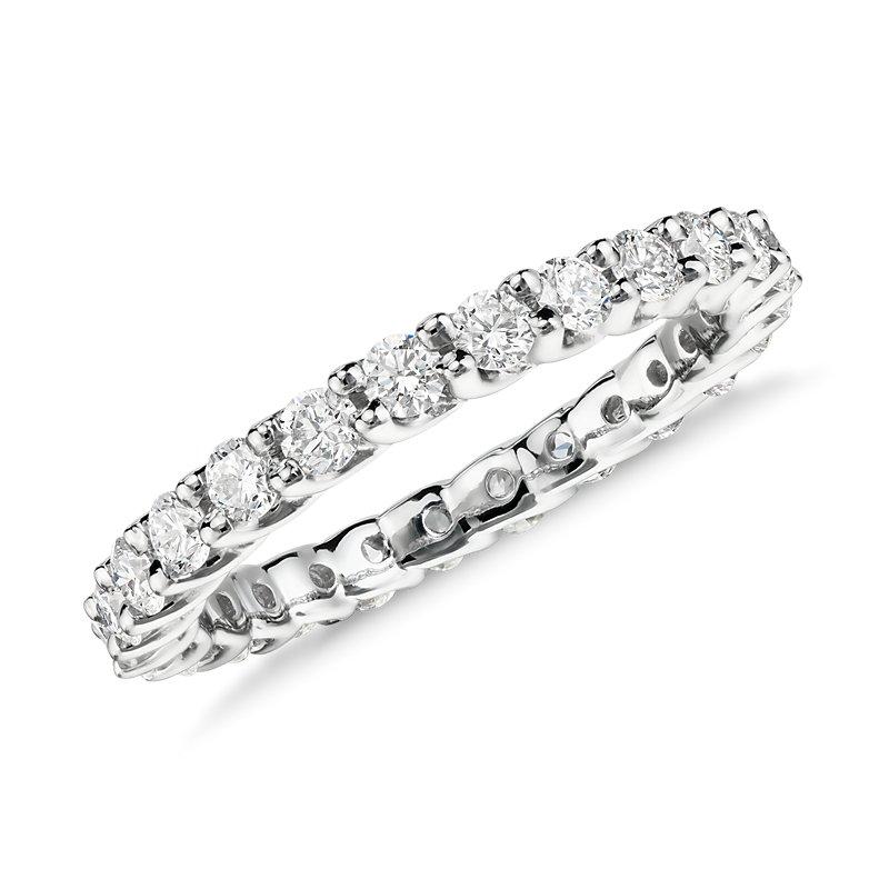 Monique Lhuillier Crown Diamond Eternity Ring in Platinum (1 ct.