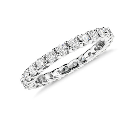 Monique Lhuillier Crown Diamond Eternity Ring in Platinum