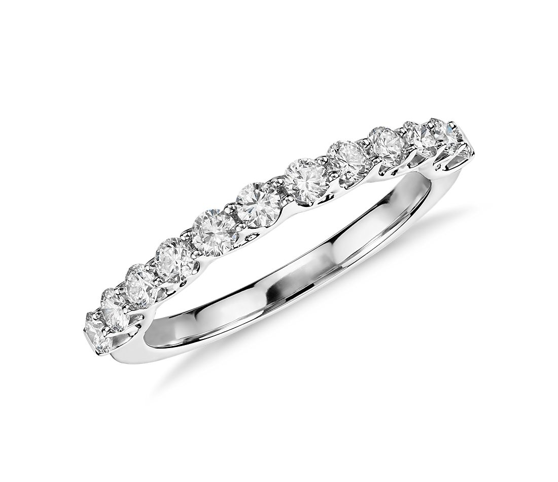 Monique Lhuillier Crown Diamond Ring in Platinum
