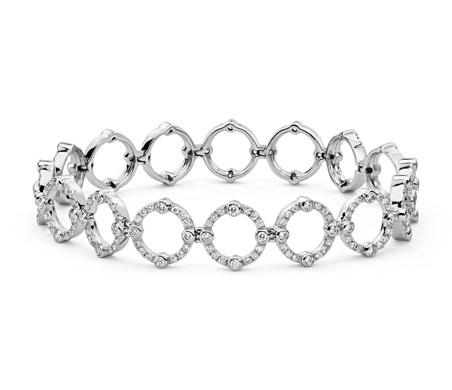 Monique Lhuillier Deco Diamond Bracelet in 18k White Gold (2 ct. tw.)