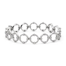 Monique Lhuillier Deco Diamond Bracelet in 18k White Gold