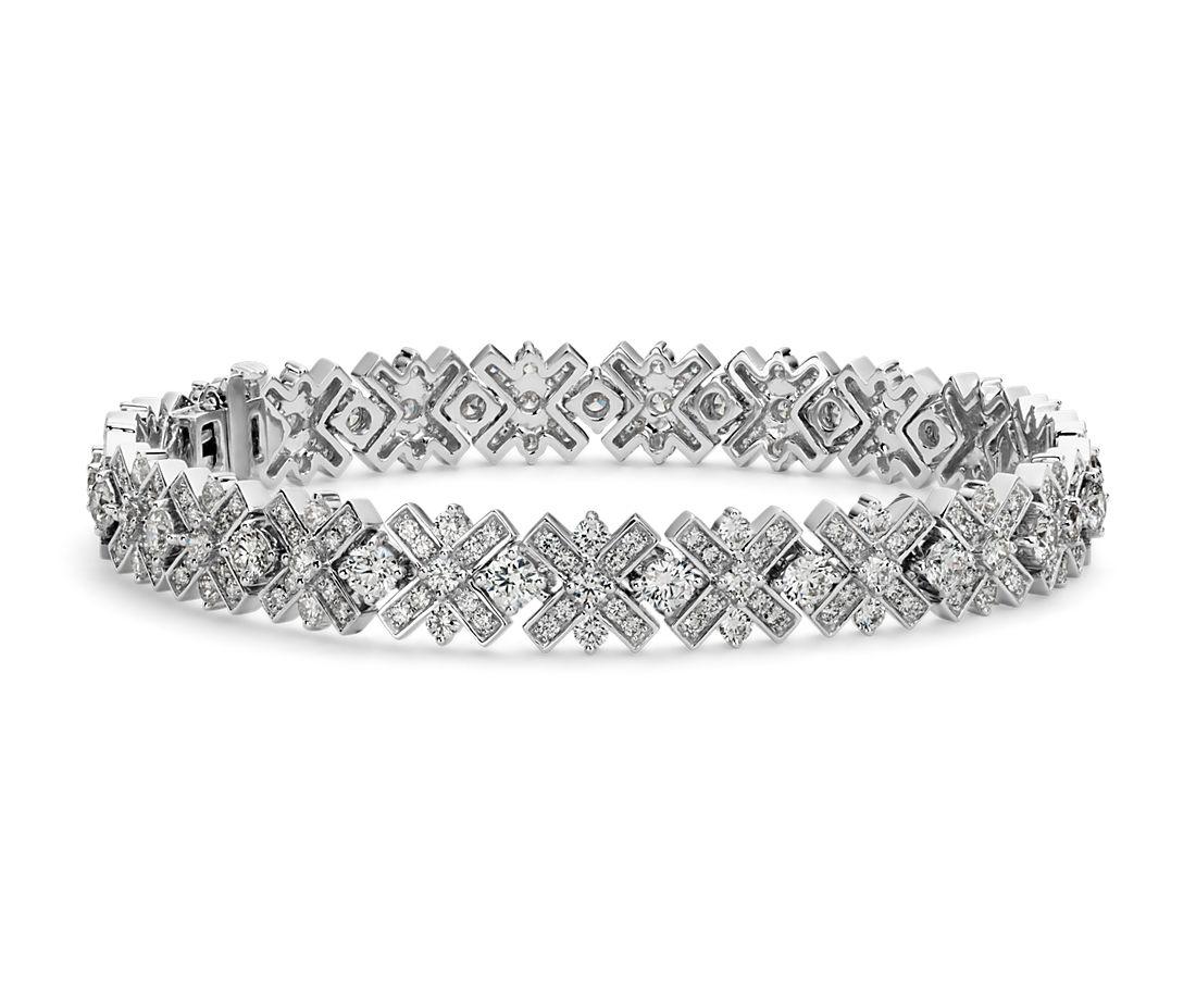 Diamond Xo Bracelet In 18k White Gold