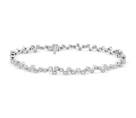 Monique Lhuillier Cascade Diamond Bracelet in 18k White Gold (2 4/5 ct. tw.)