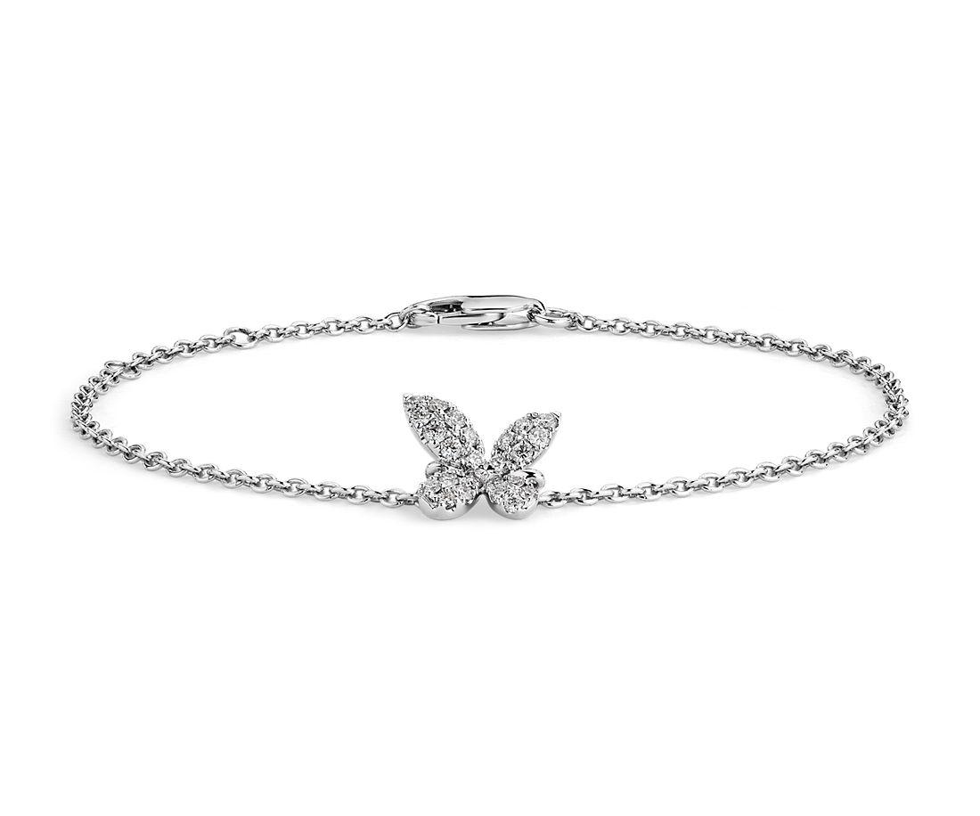 18k 白金 Monique Lhuillier 钻石蝴蝶手链<br>(1/4 克拉总重量)