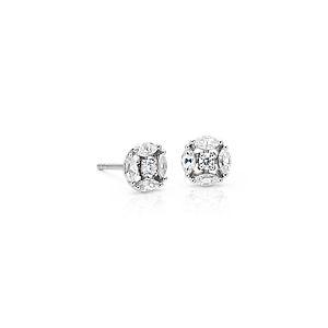 Aretes tipo botón de diamantes Cherie de Monique Lhuillier en oro blanco de 18 k (2/5 qt. total)