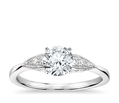 Monique Lhuillier Cherish Diamond Engagement Ring in Platinum (2/5 ct. tw.)