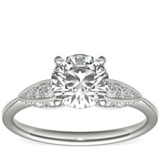 Monique Lhuillier Cherish Diamond Engagement Ring in Platinum