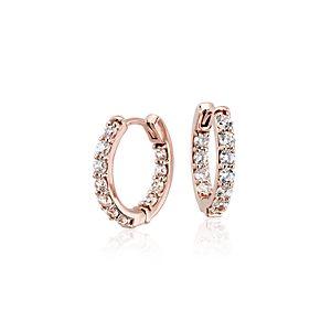 Monique Lhuillier Diamond Hoop Earrings in 18k Rose Gold (3/4 ct. tw.)