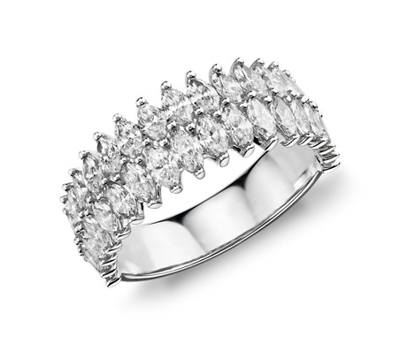 Monique Lhuillier Diamond Double Marquise Fashion Ring in Platinum (2 1/3 ct. tw.)