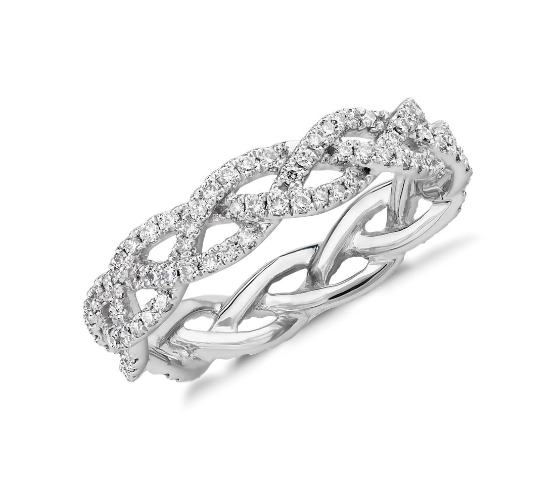 Monique Lhuillier Diamond Rope Eternity Ring in Platinum