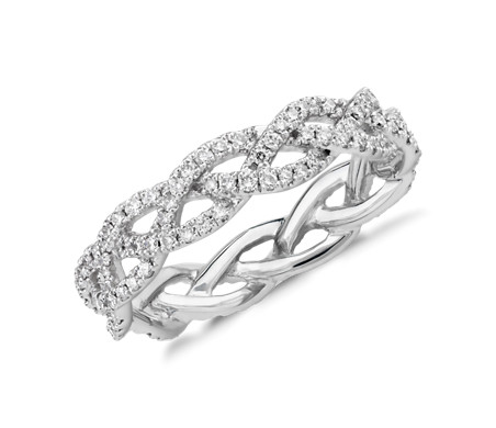 Monique Lhuillier Diamond Rope Eternity Ring in Platinum (1/2 ct. tw.)