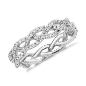 NEW Monique Lhuillier Diamond Rope Eternity Ring in Platinum (1/2 ct. tw.)
