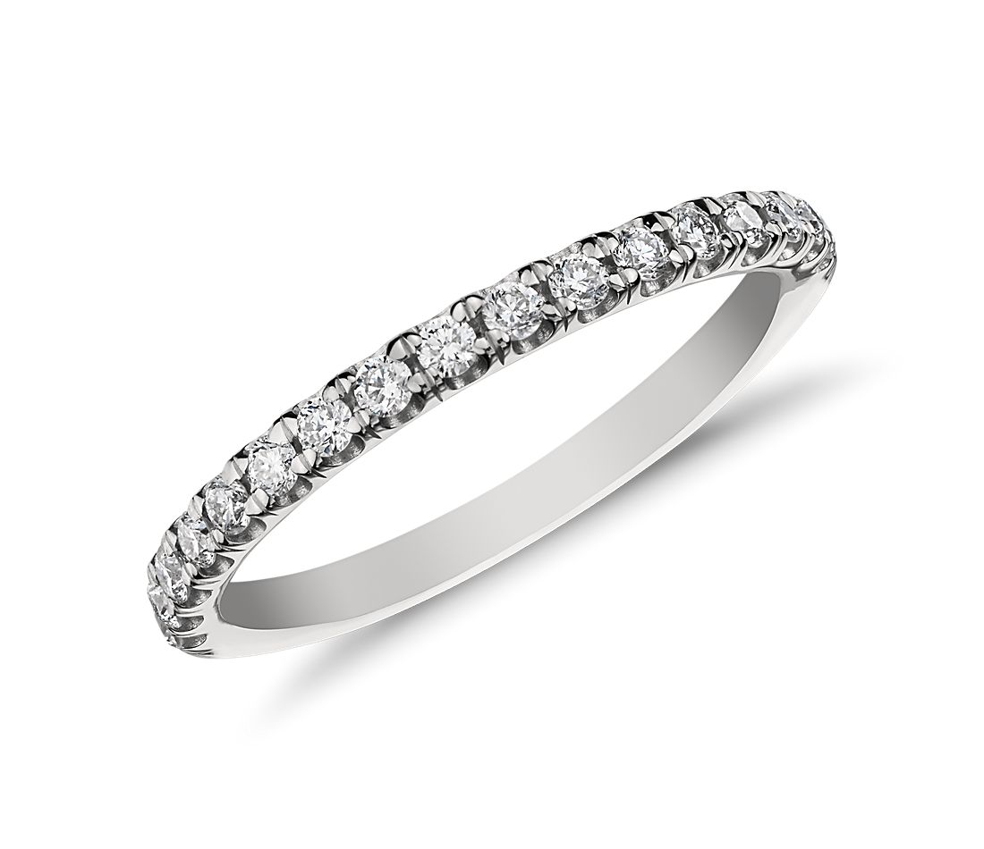 Monique Lhuillier Pavé Diamond Ring in Platinum (1/5 ct. tw)