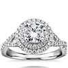 Monique Lhuillier Double Halo Diamond Twist Engagement Ring in Platinum (3/8 ct. tw.)