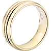Monique Lhuillier Double Milgrain Inlay Band with Polished Edge in 18k Yellow Gold (6.5mm)