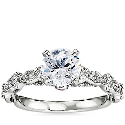 NEW Monique Lhuillier Draped Eternal Diamond Engagement Ring in Platinum