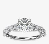 Monique Lhuillier Draped Eternal Diamond Engagement Ring