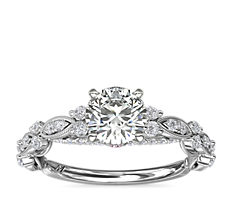 Monique Lhuillier Draped Eternal Diamond Engagement Ring in Platinum (1/3 ct. tw.)