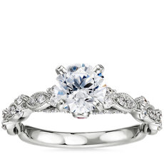 Monique Lhuillier Draped Eternal Diamond Engagement Ring in Platinum