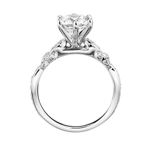 Monique Lhuillier Embellished Six-Prong Diamond Engagement Ring
