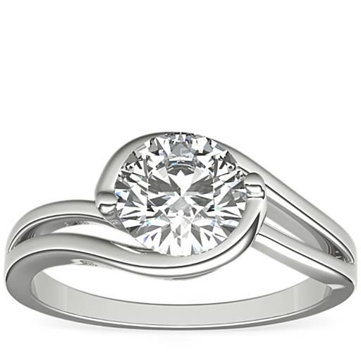 Monique Lhuillier Eternal Solitaire Engagement Ring In Platinum Blue Nile