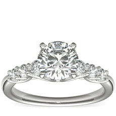 Monique Lhuillier Adoration Floating Diamond Engagement Ring in Platinum (1/3 ct. tw.)
