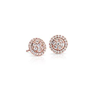 Monique Lhuillier Floral Diamond Earrings in 18k Rose Gold (1/2 ct. tw.)