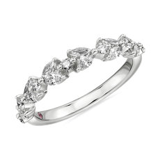 Monique Lhuillier Floral Marquise Diamond Anniversary Band in Platinum (3/8 ct. tw.)