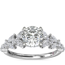 Monique Lhuillier Floral Marquise Diamond Engagement Ring in Platinum (5/8 ct. tw.)