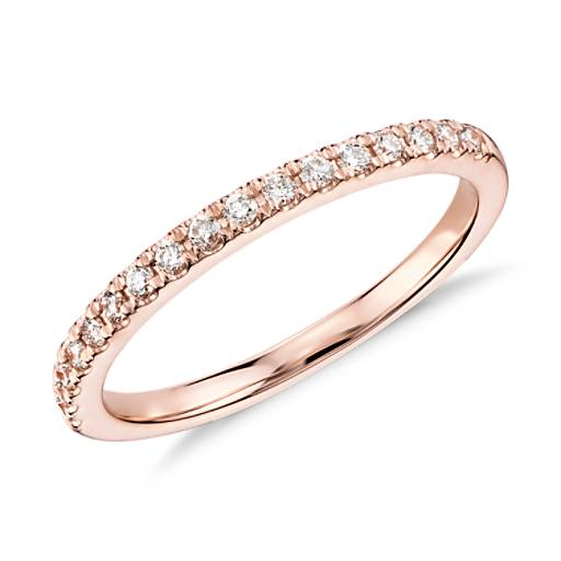Monique Lhuillier French Pavé Diamond Ring in 18k Rose Gold (1/5 ct. tw.)