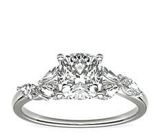 Bague de fiançailles diamant Jardin Monique Lhuillier en platine (0,28carats, poids total)