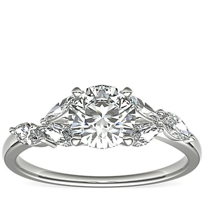 Monique Lhuillier Jardin Diamond Engagement Ring in Platinum (1/4 ct. tw.)