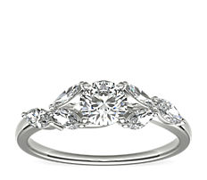 Monique Lhuillier Jardin Diamond Engagement Ring in Platinum (0.28 ct. tw.)