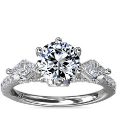 NEW Monique Lhuillier Tesoro Diamond Engagement Ring in Platinum