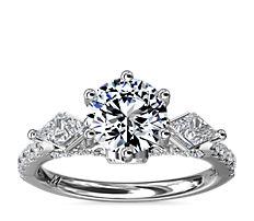 NEW Monique Lhuillier Tesoro Diamond Engagement Ring in Platinum