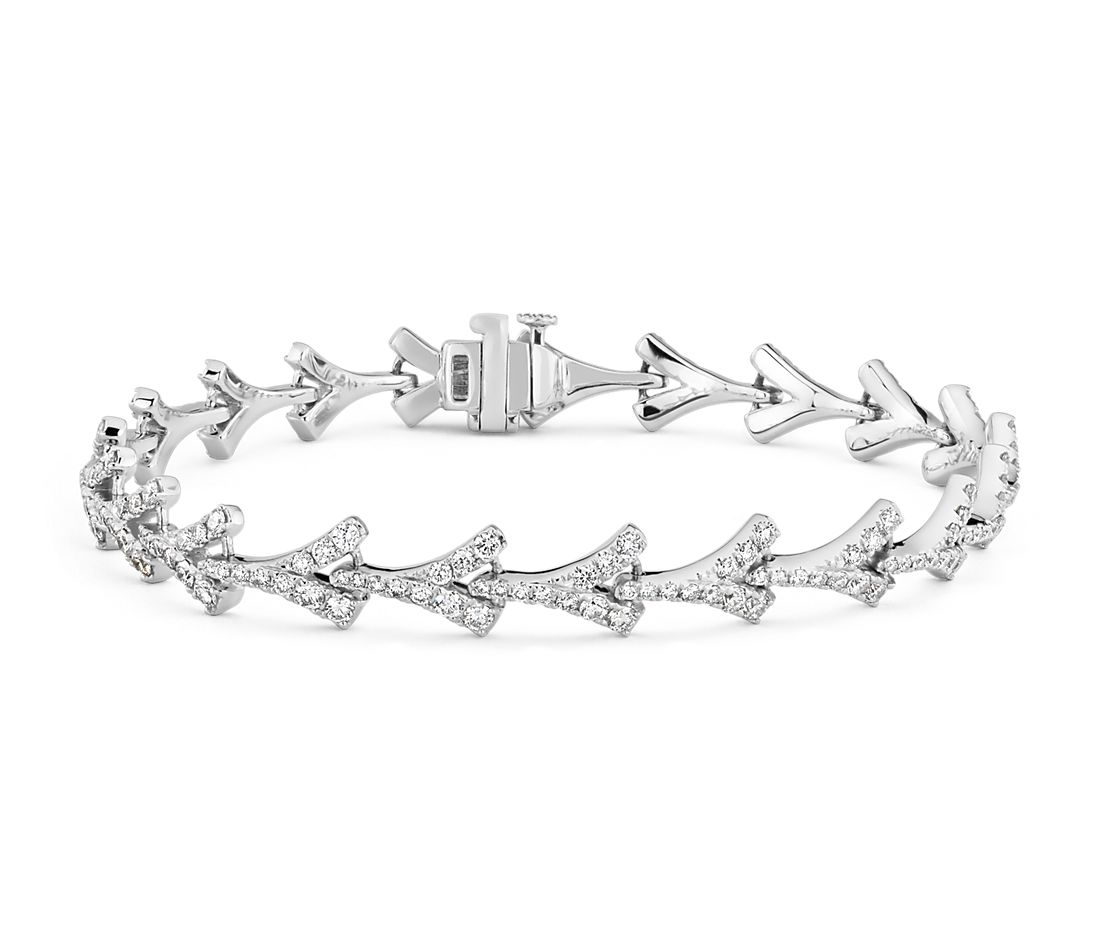Monique Lhuillier Laurel Diamond Bracelet in 18k White Gold