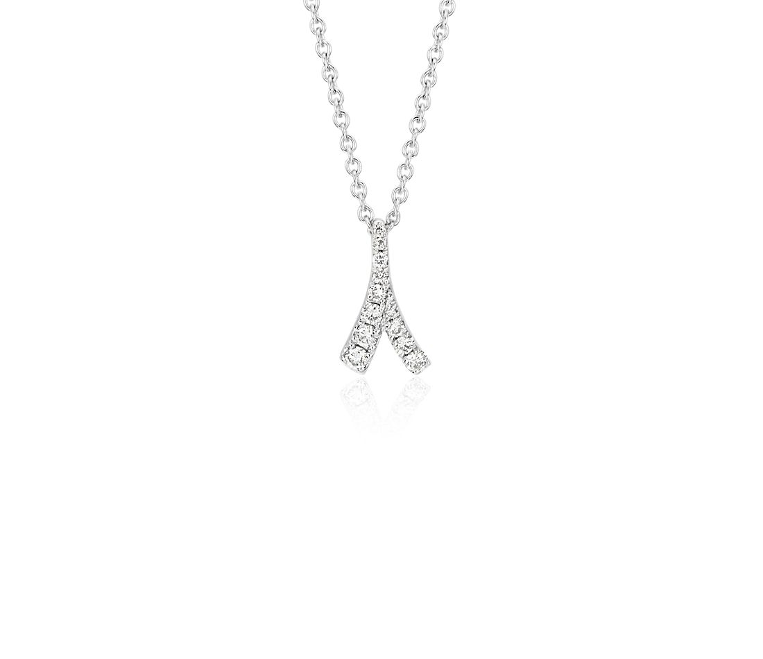 Monique Lhuillier Laurel Diamond Pendant in 18k White Gold