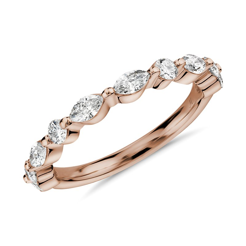 Monique Lhuillier Marquise Diamond Ring in 18k Rose Gold  (3/4 ct