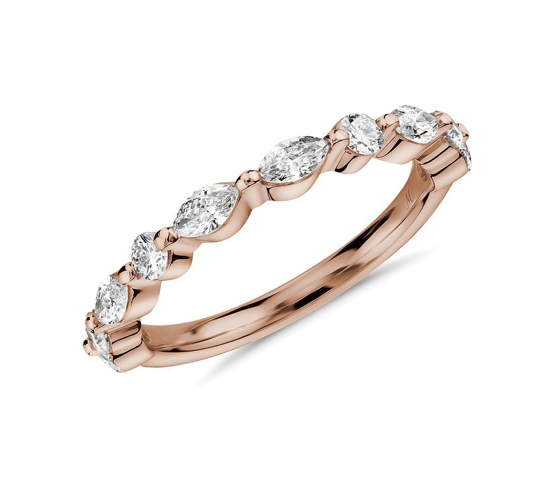 Monique Lhuillier Marquise Diamond Ring in 18k Rose Gold