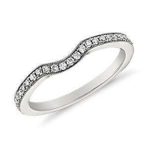 Bague en diamant mille-grains Monique Lhuillier en platine (1/6carat, poids total)