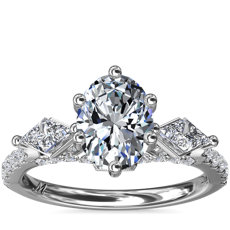 NEW Monique Lhuillier Oval Tesoro Diamond Engagement Ring in Platinum