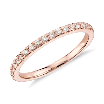 Monique Lhuillier Pav Diamond Ring in 18k Rose Gold 15 ct tw