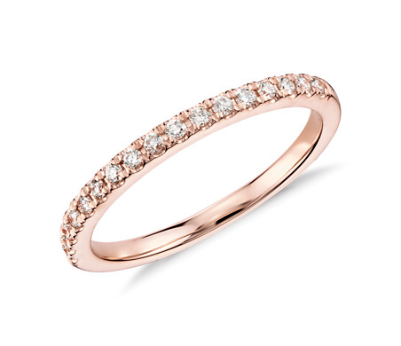 Bague en diamants sertis pavé Monique Lhuillier en or rose 18 carats (1/5 carat, poids total)