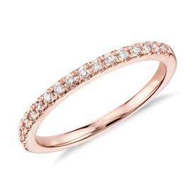 Monique Lhuillier Pavé Diamond Ring in 18k Rose Gold (1/5 ct. tw.)