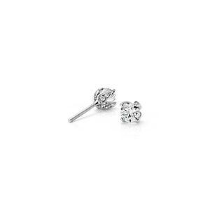 Aretes de diamantes con pétalos y pavé de Monique Lhuillier en platino (1/2 qt. total)