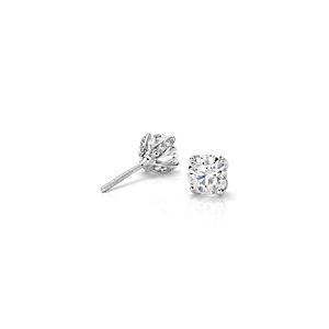 Aretes de diamantes con pétalos y pavé de Monique Lhuillier en platino (1 qt. total)