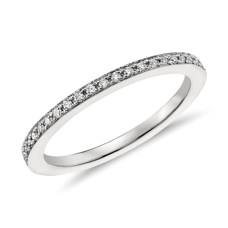 Pavé Diamond Ring in Platinum (1/8 ct. tw.)